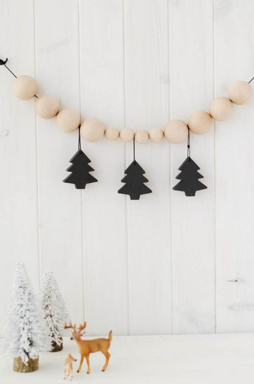 guirnalda madera navidad