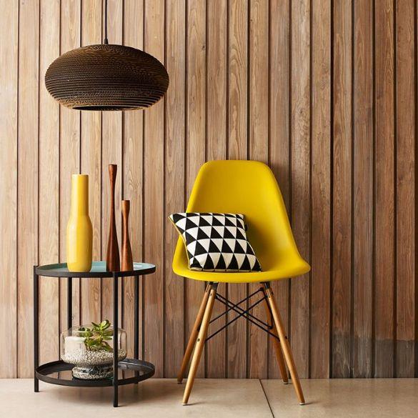 silla charles ray eames colo amarillo dsw diseño de sillas iconicas