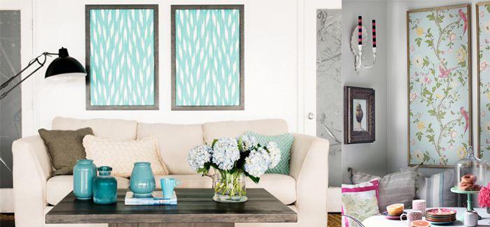 papel pintado enmarcado ideas para decorar tu pared blanca