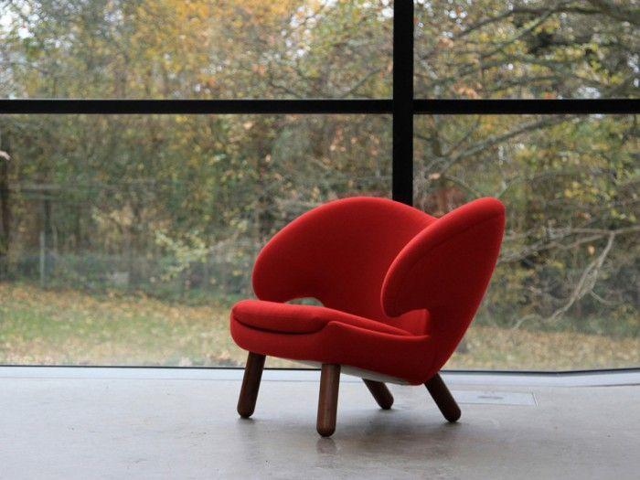 silla pelican roja finn juhl diseno danes anos 40