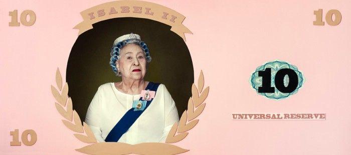 billete isabel segunda fotografia billete falso rosa reina princesa fotografa argentina romina ressia foto que parece un cuadro pictorica