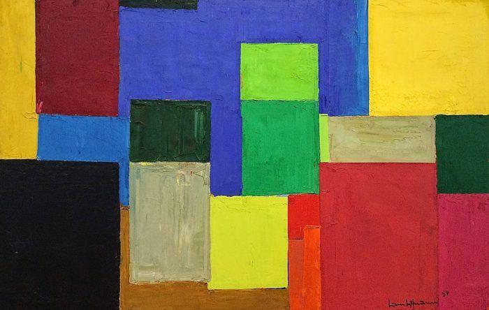 hans hoffman pintura de colores cuadrados action painting expresionismo abstracto