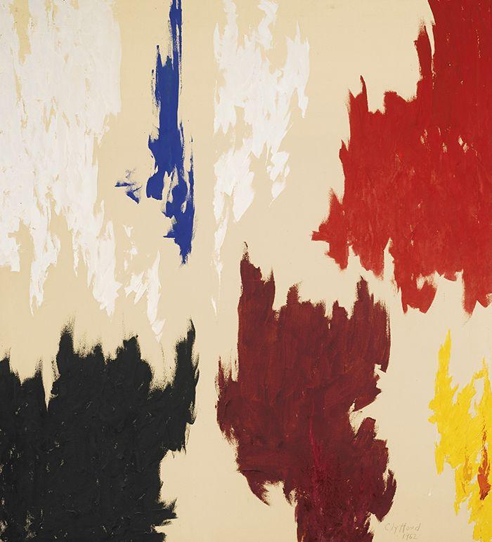 pintura obra de clyfford still color field painting expresionismo abstracto action painting pintura cuadro enorme un color varios colores