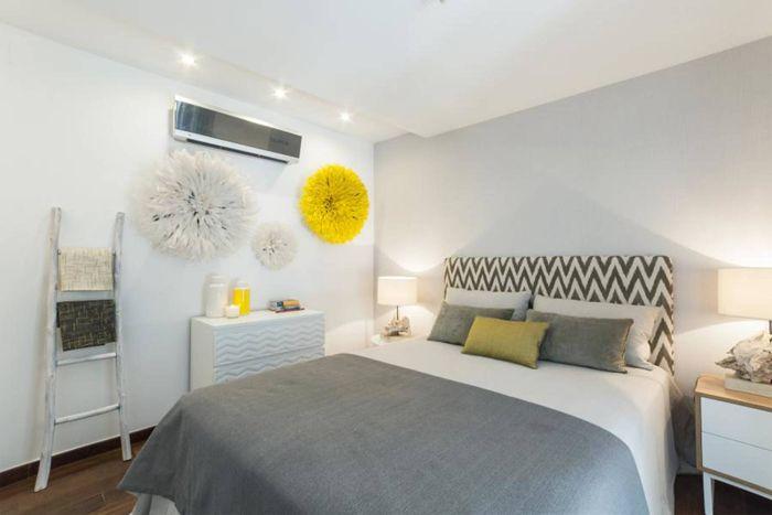 Decoracion dormitorio amarillo
