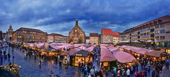 vista general del mercado de nuremberg