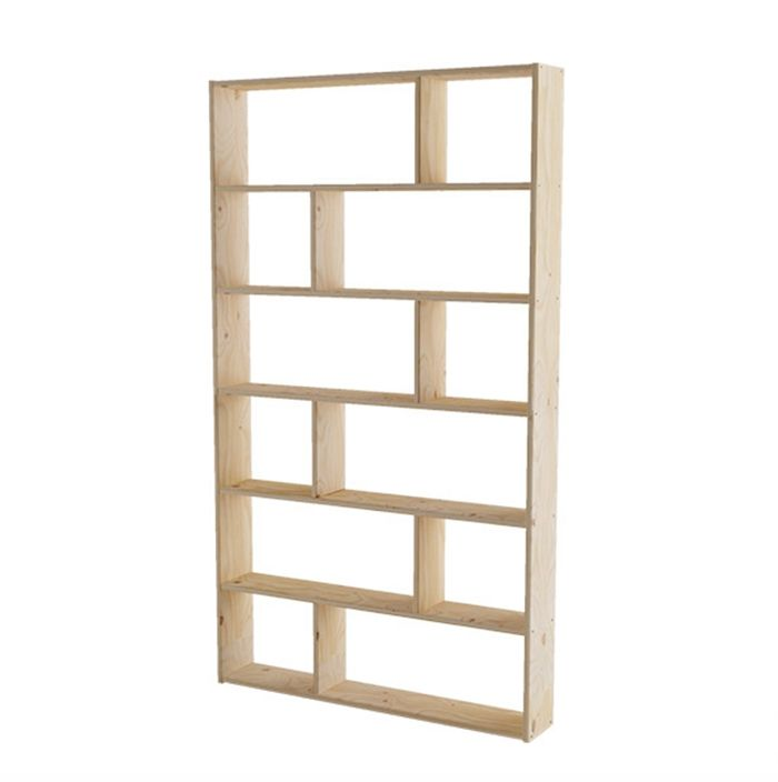 estanteria madera pino asimetrica