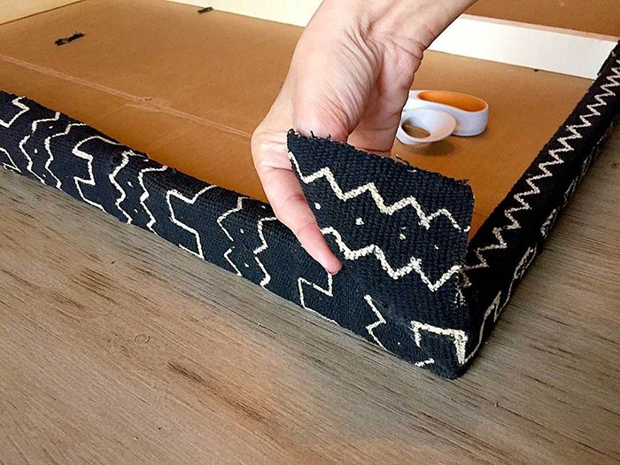 tapizado mueble mud cloth