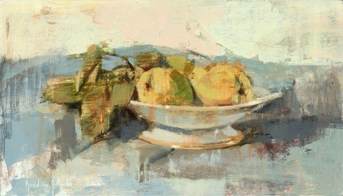 pintura frutero peras limon