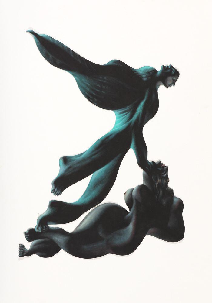arte figurativo pinturas gruesas verdes