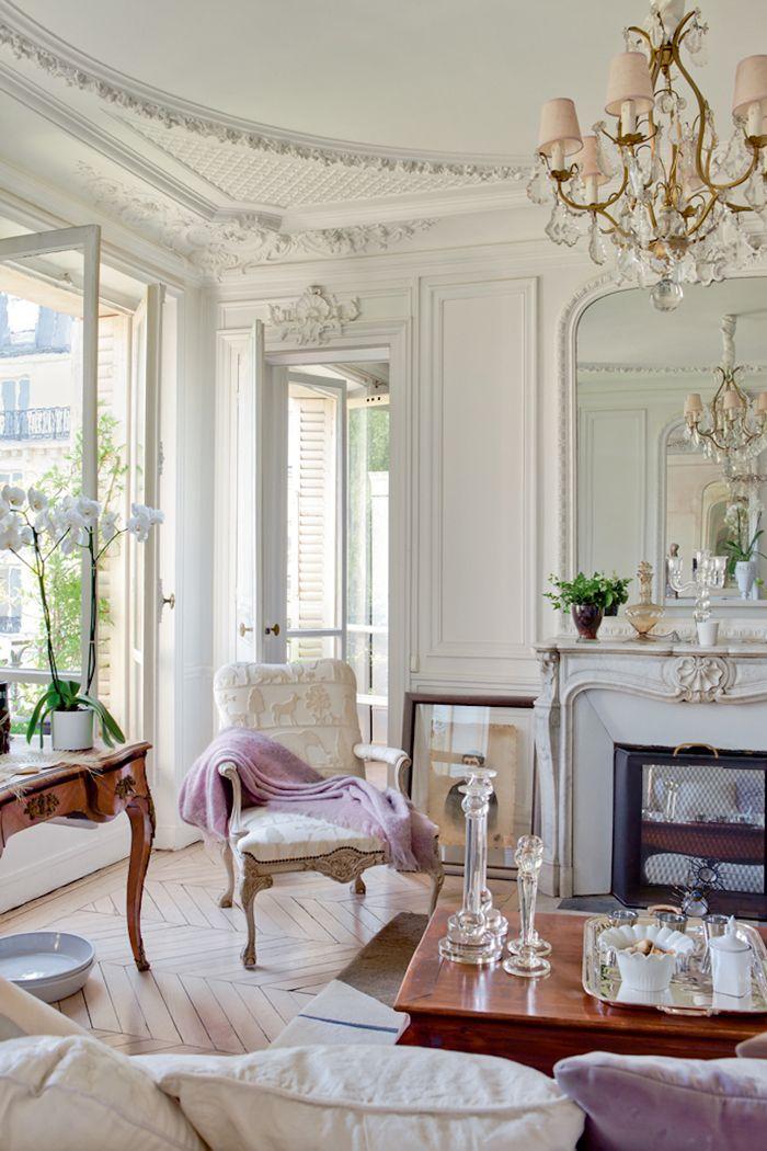 salon, Paris, haussman, sillas, molduras, cornisas, lámpara, techos altos