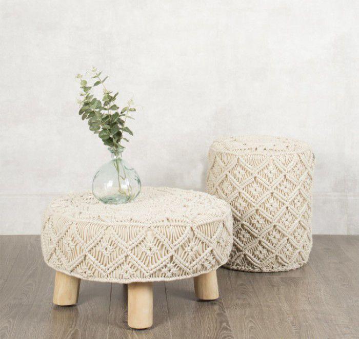 asientos crochet bohemios