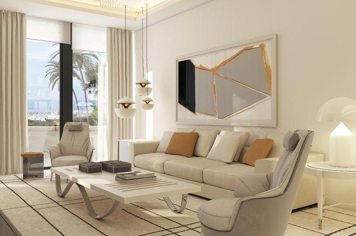 sillon para television vivienda lujosa en Marbella