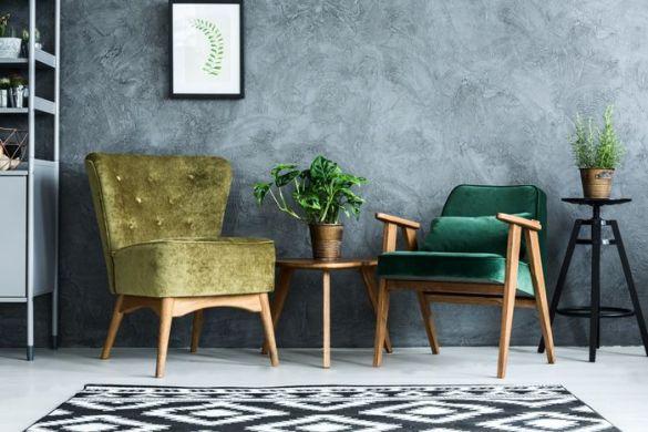 sillones terciopelo verdes
