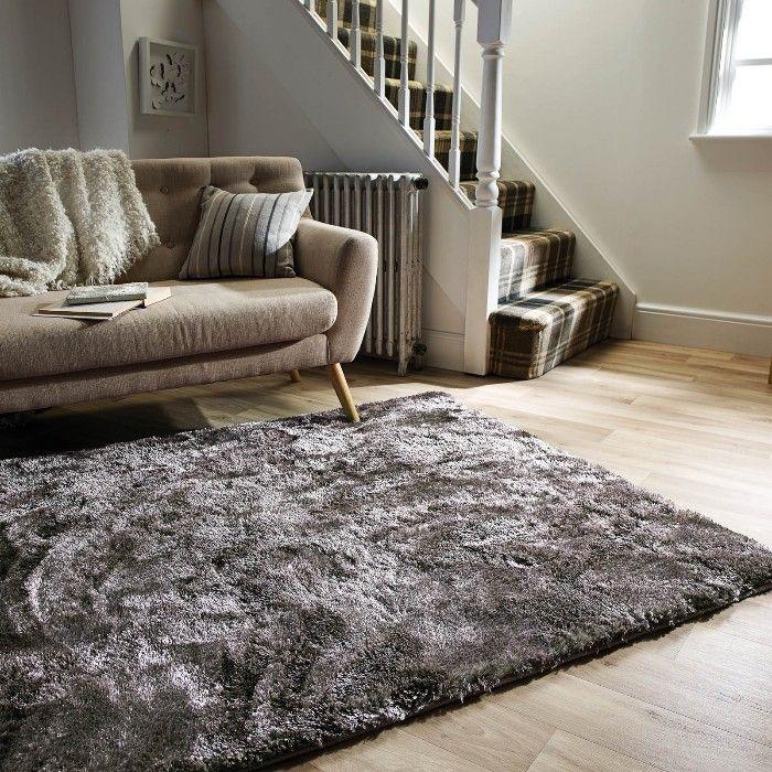 alfombra pelo gris