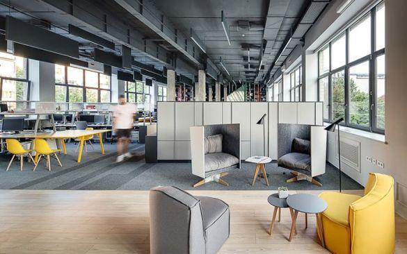 oficina diafana diseño actual