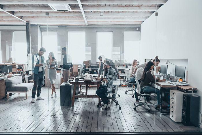 diseño oficina diafano