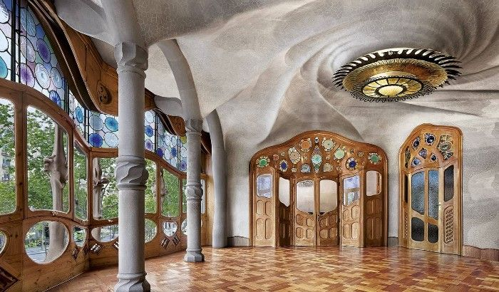 interior casa batllo arquitectura modernista