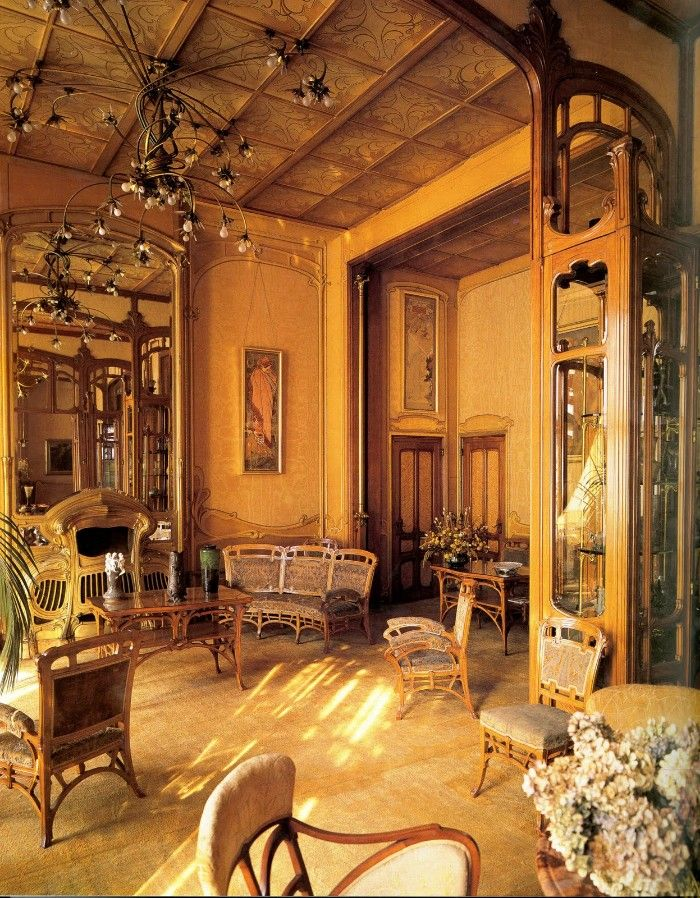 salón estilo modernista