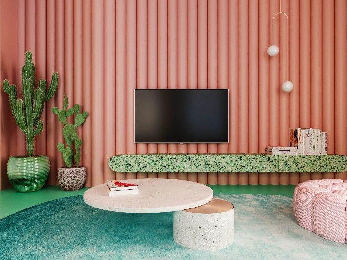 Aplicamos el color Living Coral, Pantone de 2019 en decoración