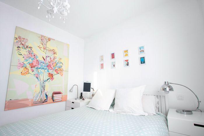 dormitorio pintura jarron con flores arte digital