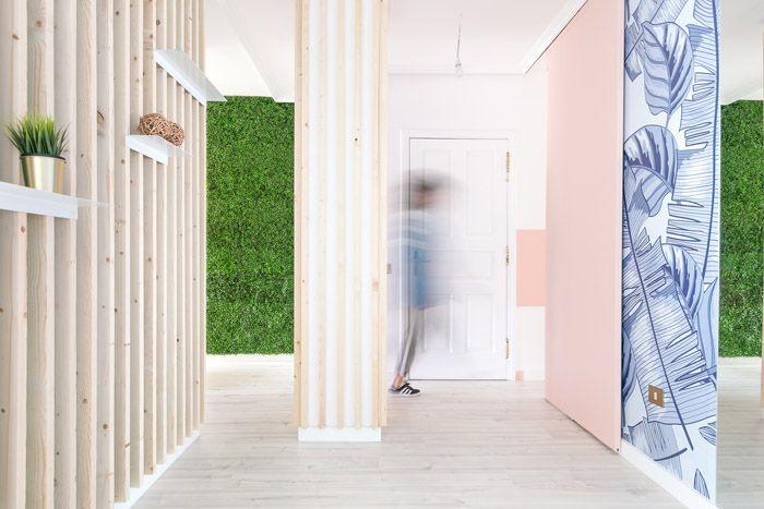 Diseño de una colorida casa minimalista en Tenerife