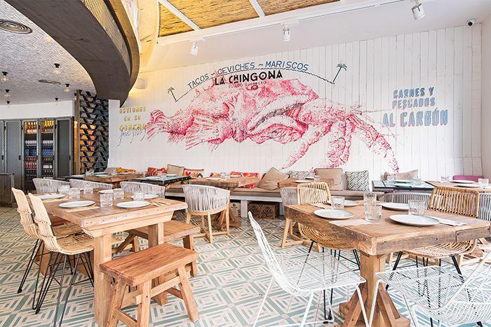 diseño restaurante mexicano moderno