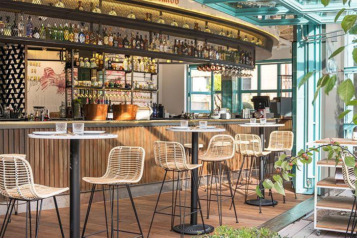 barra cocteleria mexicana sillas caña