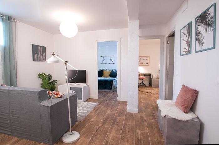 vista general piso reformado nordico