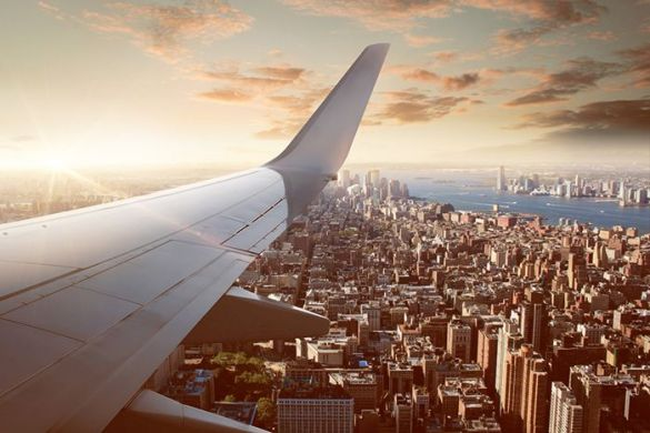 avion sobre nueva york