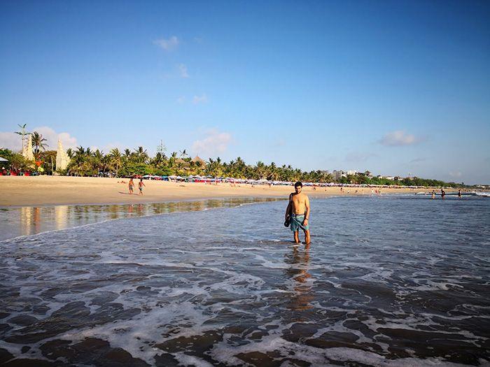 Playa en Bali tarde
