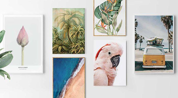 Cómo decorar las paredes de tu casa con las mejores láminas y cuadros