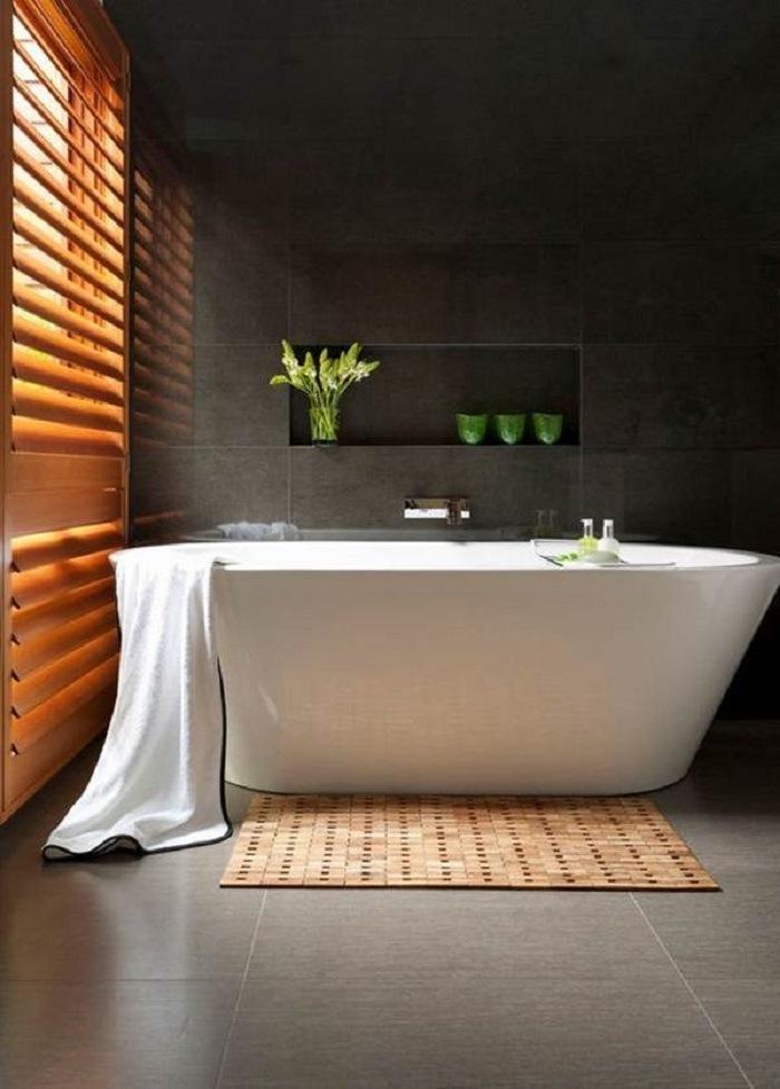 decoración calmada baño