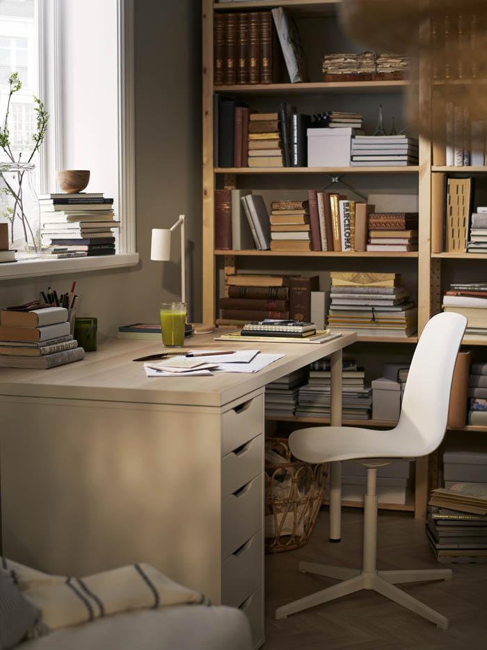 biblioteca espacio trabajo casa