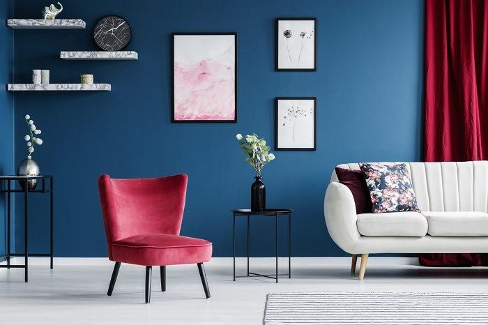 tendencias de decoración en 2020 uso de color azul