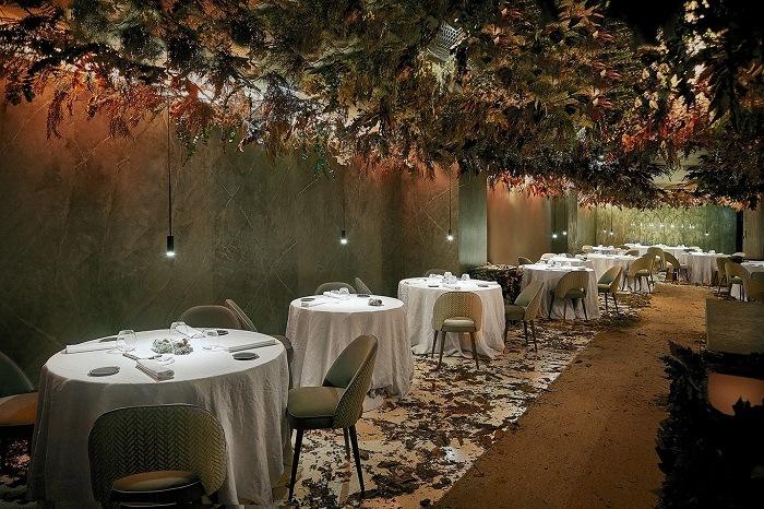 jardines verticales interior restaurante