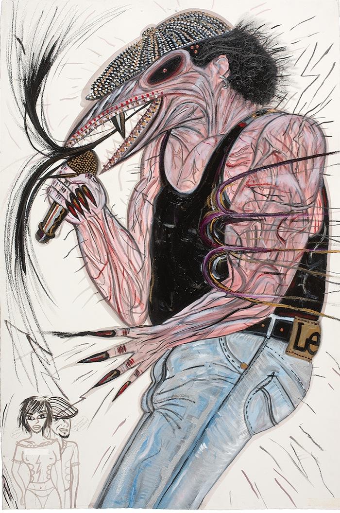 AC DC pintura contemporanea