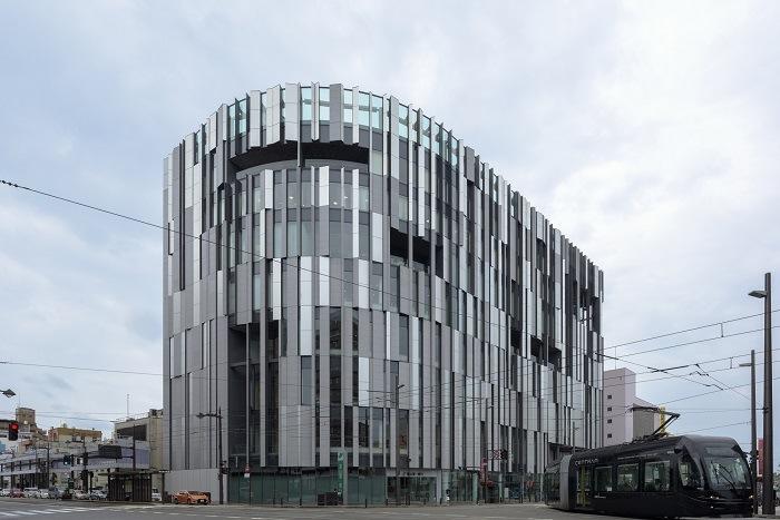 Edificio vanguardia arquitectónica de japón