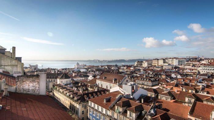 Vistas de Lisboa desde Hotel esqina
