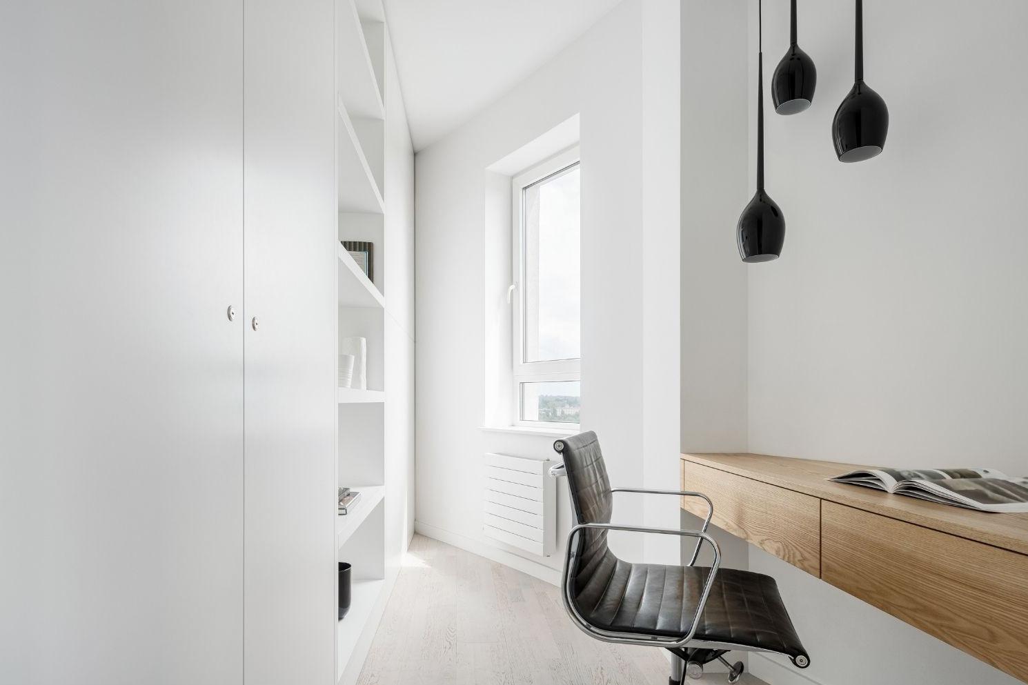 silla negra cuero diseño oficina