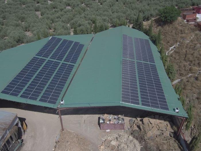 Placas solares para fábrica