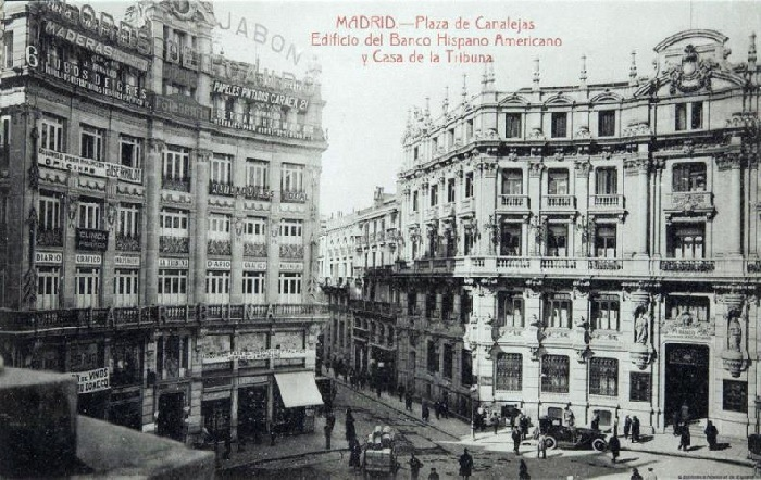 Edificio-del-Banco-Hispano-Americano-Madrid-antiguo