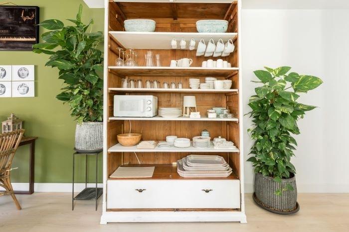 Alojamiento Airbnb con vajillas bonita para largas estancias