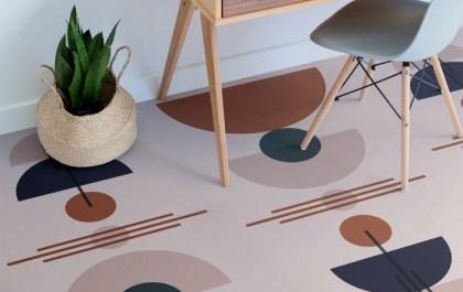 Diseño de suelo al estilo Itten moderno y contemporáneo