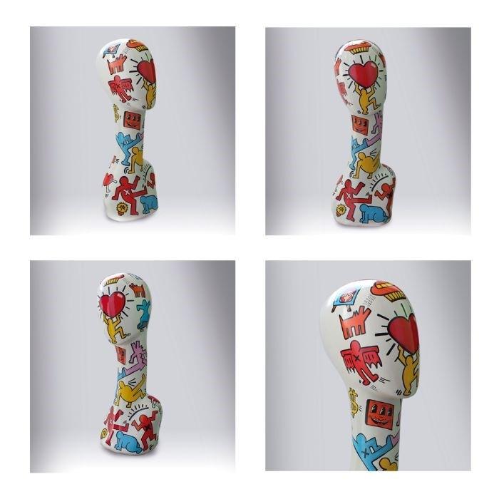 Busto al estilo Keith Haring