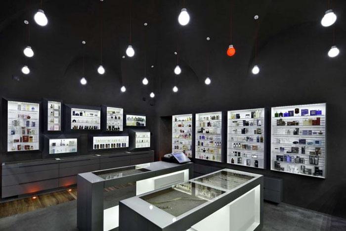 diseño comercial tienda perfumes