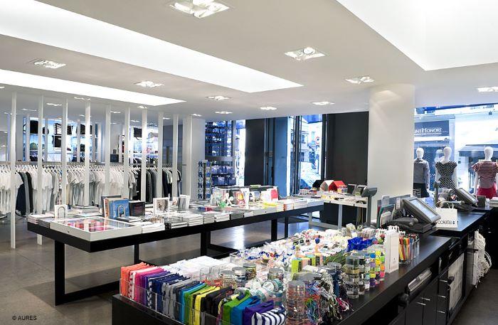 Tienda en París con un diseño de concept store