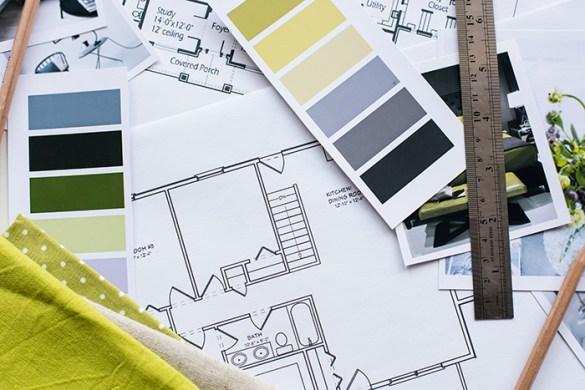 Mesa de trabajo planos, diseños y colores de diseñadores de interiores
