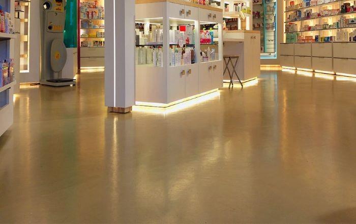 Microcemento, tipo de pavimento interior para una tienda, de Bobeton