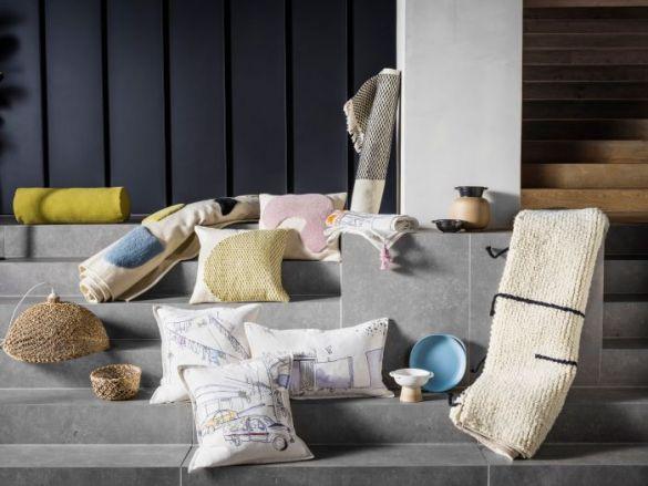 Conjunto de objetos textiles de IKEA de la nueva colección LOKAL