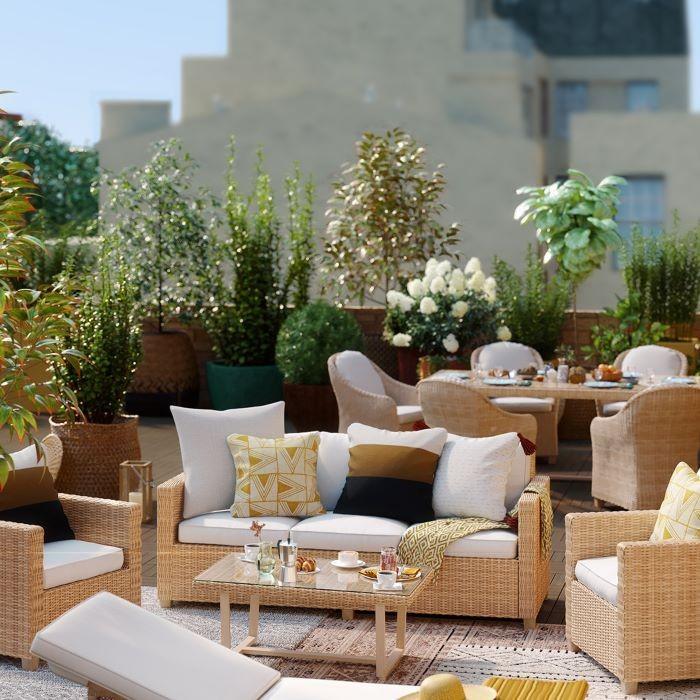 muebles para jardín serie medena de leroy merlin